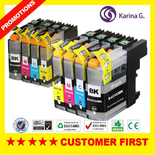 8X Compatible Ink Cartridges LC-123 LC123 For Brother MFC-J4410DW  MFC-J4510DW  MFC-J4610DW DCP-J552DW inkjet Cartridge #jewelry, #women, #men, #hats, #watches