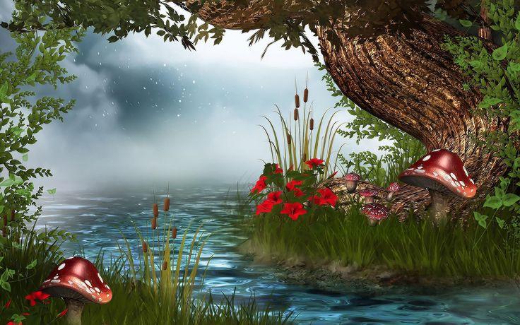 Fantasy wallpapers HD river.
