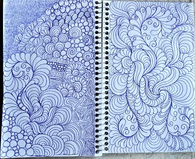 Doodles are the best way to practice movement. Create a page in your sketchook of your own style of doodles. DO NOT COPY THESE.
