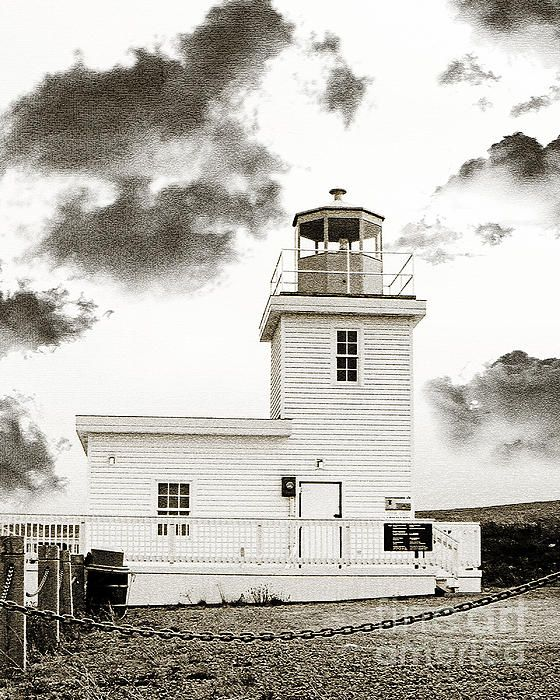Wabana Lighthouse by Barbara Griffin. The lighthouse on Bell Island, Conception Bay, Newfoundland. Bell Island, formerly known as Wabana was an iron ore mine that was very important during WWI.