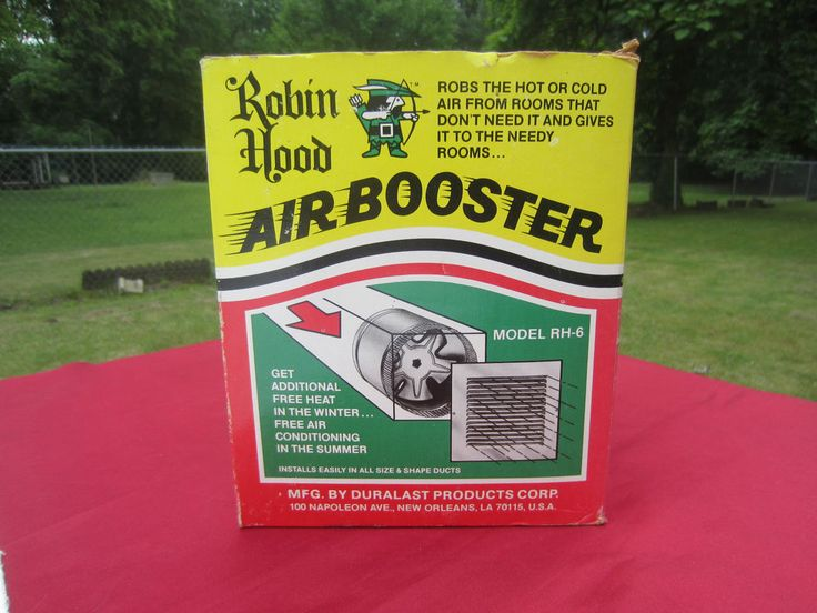 "6"" Duct Fan Air Booster ROBIN HOOD RH6 FurnaceHeating"