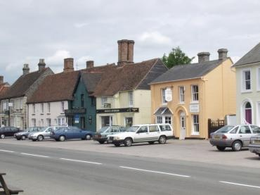 Long Melford, Suffolk - Along this road,my Dad was born in one of there houses