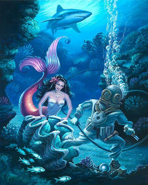 680 best Mermaids! 2 images on Pinterest | Mermaid art ...
