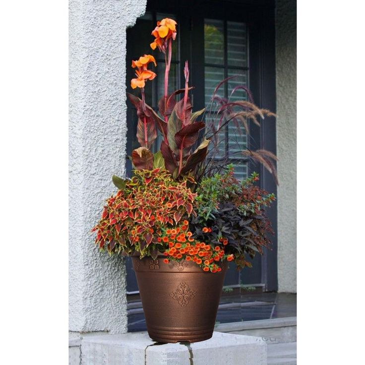17-29/32 in. Copper Medley Plastic Planter-DP690C-WC - The Home Depot