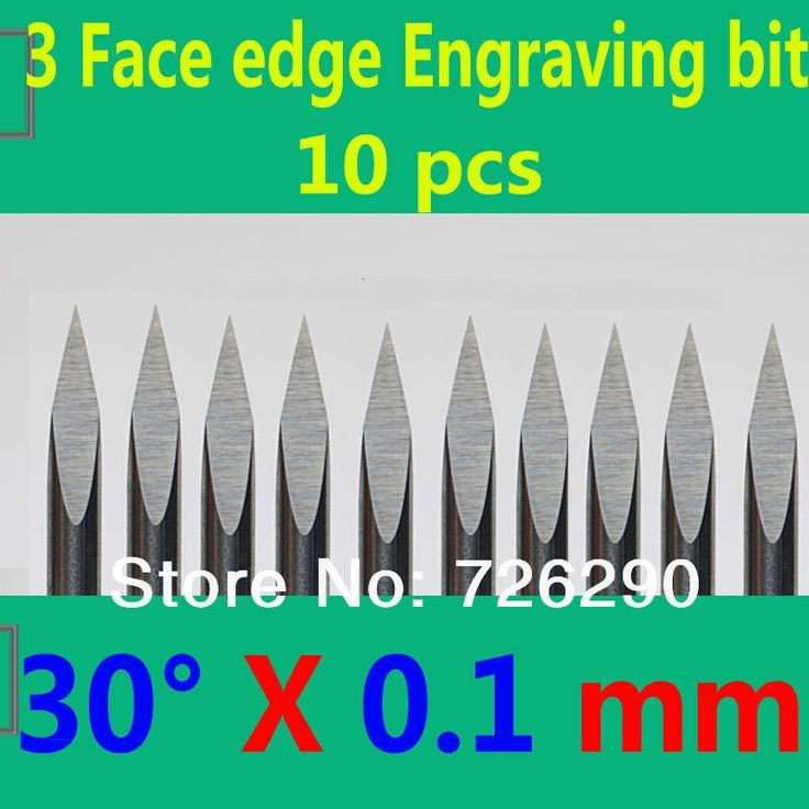 13.53$  Watch now - http://alic74.shopchina.info/go.php?t=32612255810 - Free Shipping 10pcs 3.175mm Dia 30 Angle 0.1mm Tip 3 Edge Carbide Woodworking Tools Engraving Bits for CNC Router Machine  #aliexpress