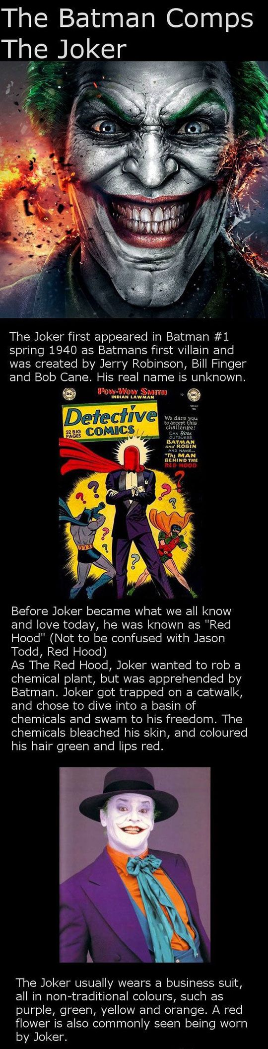 The Joker's Origins (click to get the whole story behind the joker)