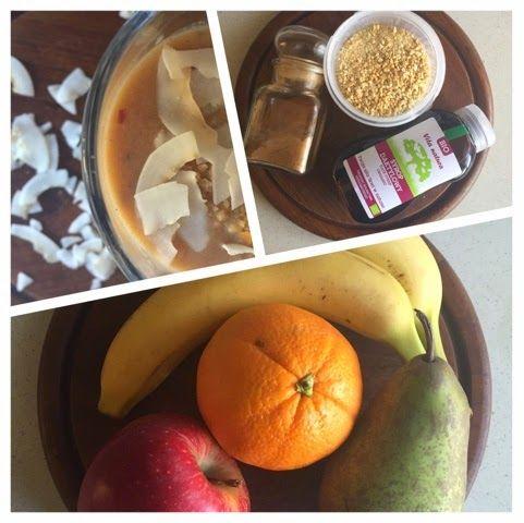 banana pear smoothie with cookies. vegan. vegetarian. date syrup. wegetariańskie smoothie. przepis na koktajl gruszkowo - bananowy z ciasteczkami