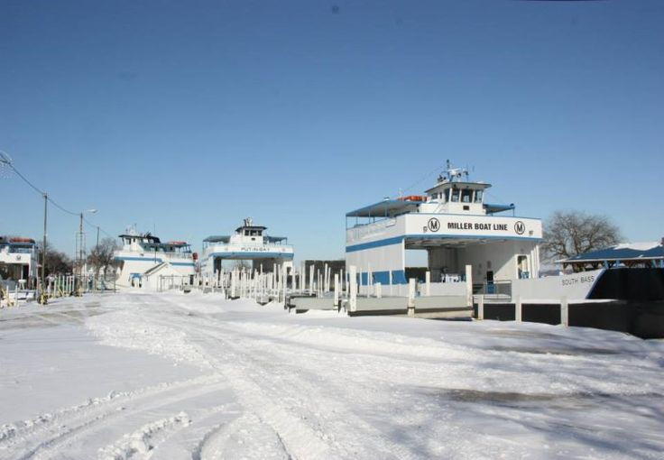 Ice Fishing On Lake Erie – The Thrilling Winter Beauty of Lake Erie Shores & Islands,Tourist Meets Traveler. PHOTO: Miller Ferries #winter slumber at downtown Miller Dock, Put-in-Bay, Ohio