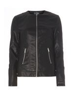 Womens **Tall Faux Leather Jacket- Black
