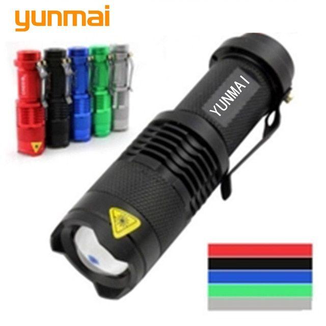 Portable Mini Penlight Q5 2000LM LED Flashlight Torch Zoom Light Lantern Camping