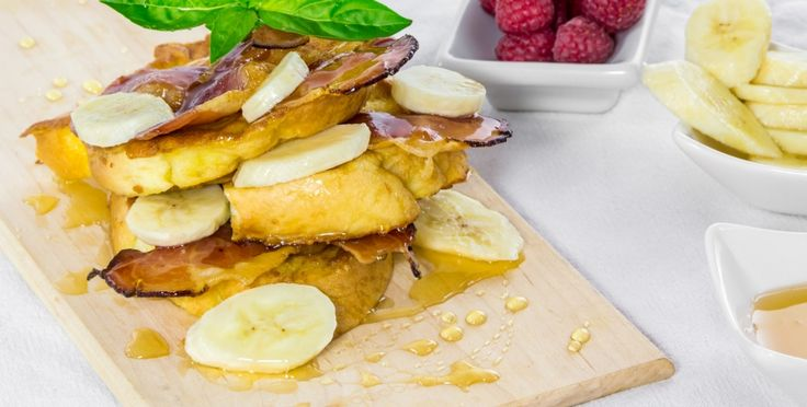 Crispy French toast layered with salty, crunchy Black Forest Ham and drizzled with warm, sweet honey.