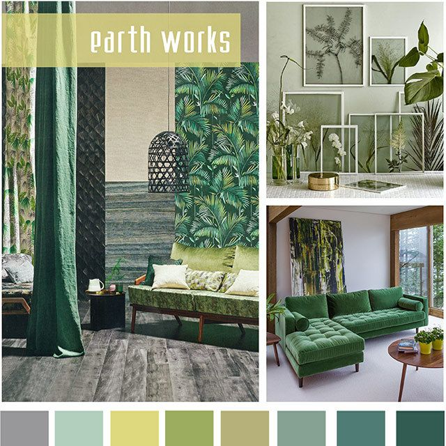Designoptions Ss18 Color Report On Weconnectfashion Home Furnishing Mood Earth Works