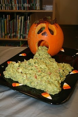 Halloween food presentation.