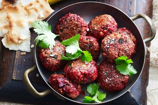 Chickpea and beetroot falafel with tahini sauce main image
