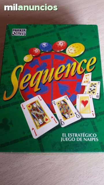 Vendo juego Sequence, juego estratégico de naipes, año 97. Anuncio y más fotos aquí: http://www.milanuncios.com/juegos-de-mesa/juego-sequence-150545694.htm