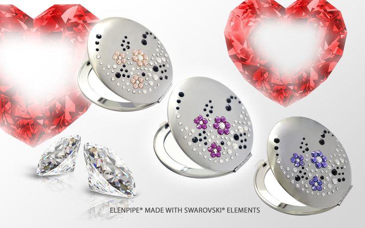 Mirrors with SWarovski serie EL-06 Flowers www.elenpipe-sw.com online shop