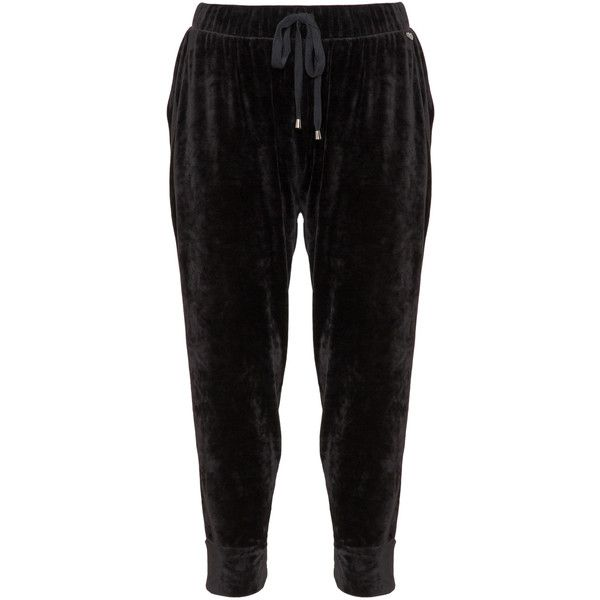 Mat Black Plus Size Velvet jogging bottoms ($86) ❤ liked on Polyvore featuring activewear, activewear pants, black, plus size, plus size sportswear, plus size activewear, plus size activewear pants and women's plus size activewear