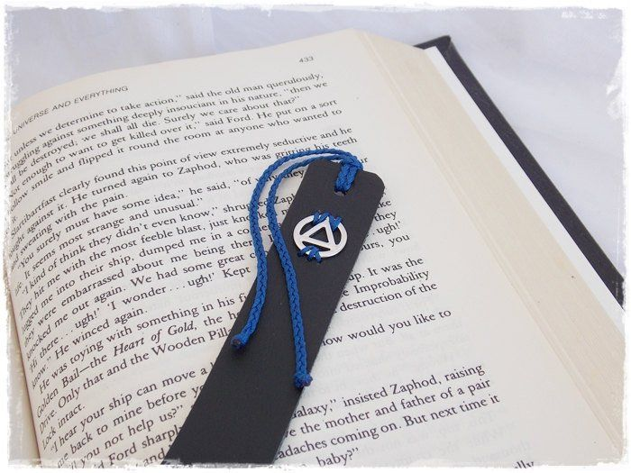 Alcoholics Anonymous Leather Bookmark, 3rd Anniversary Gift