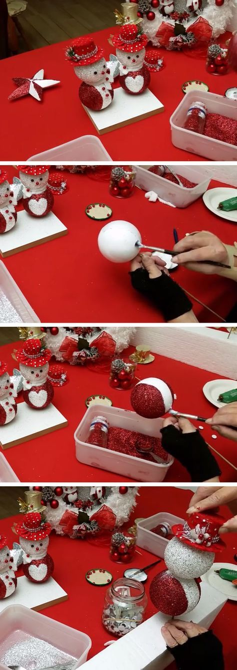 Easy DIY Glitter Snowman   Easy Christmas Crafts for Kids to Make   Cheap Handmade Christmas Decorations on a Budget DIY