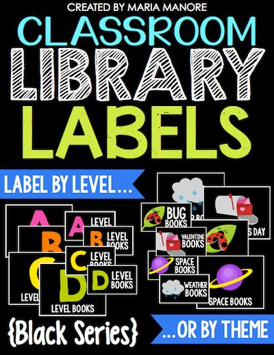 organize and label every book in your classroom library
