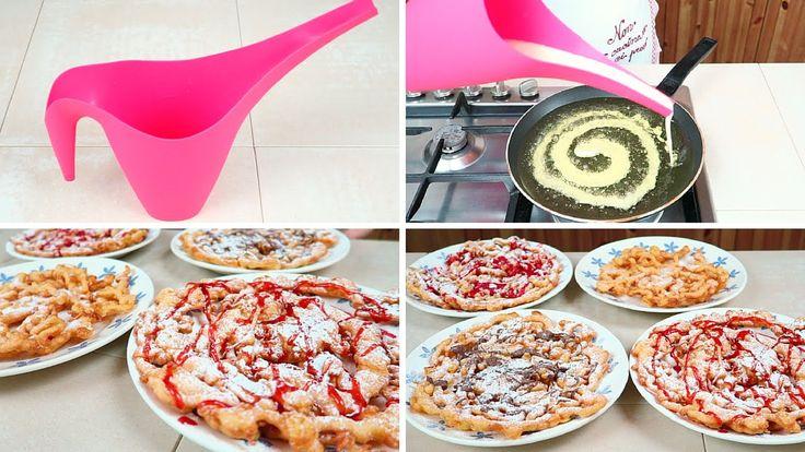 Frittelle Giganti Ricetta Facilissima - Easy Funnel Cake Recipe (fatte u...