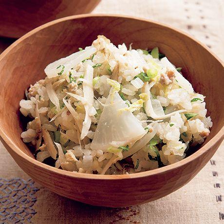 大根と白菜の豆乳炊き込みご飯 | 井原裕子さんのごはんの料理レシピ | プロの簡単料理レシピはレタスクラブネット