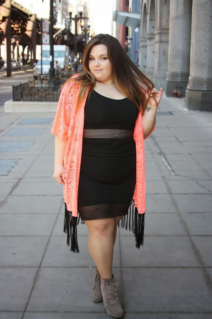 Fringe, a kimono, and a little black dress... I'm all about it! There is a sneak peak at @CharlotteRusse's new #PlusSize clothing line on www.natalieinthecity.com!