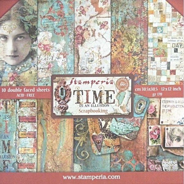 Stamperia  Time Is An Illusion 12x12x 10 listů 228 tvorilci