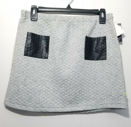 Kind Is Cool Skirt Girls XL Gray Black Polyester Cotton, NWT, $16.99 #KindIsCool