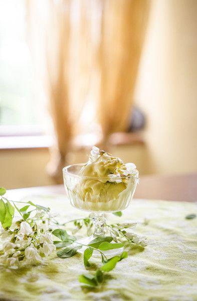 Înghețată din flori de salcâm - KissTheCook #falseacacia #icecream