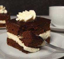 SPONGE CAKE CHOCO (Pour 6 P -  BISCUIT : 50 g de cacao amer, 1/2 sachet de levure, 170 g de farine, sel, 220 g de sucre, 4 œufs, 220 g de beurre) (CREME : 50 g de sucre glace, 1/4 c à c d'extrait de vanille, 200 g de crème) (GLACAGE : 20 g de beurre, 50 g de sucre glace, 100 g de chocolat)