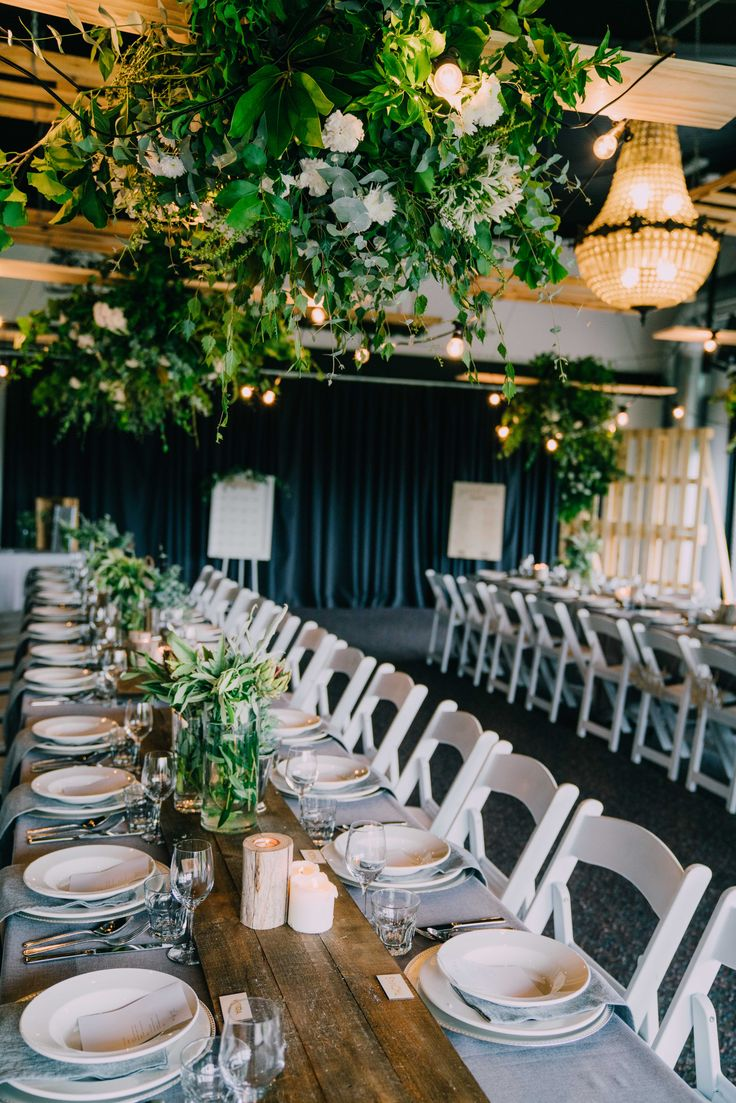 Warm green foliage.  Adorn Event Styling@Tailrace Centre