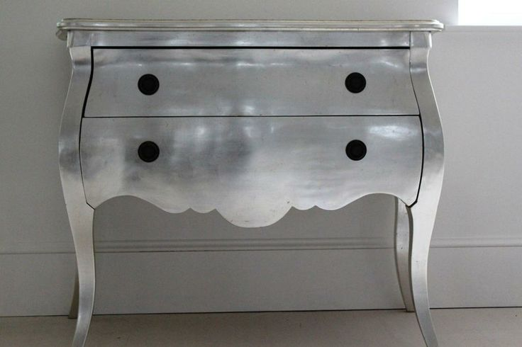 Silver French Chest 2 Drawer