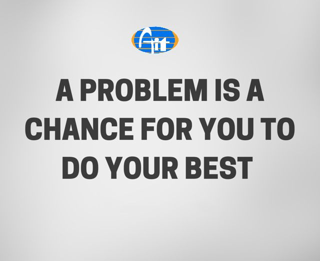 Alagappa Institute of Technology #Aiitech A problem is a chance for you to do your best.