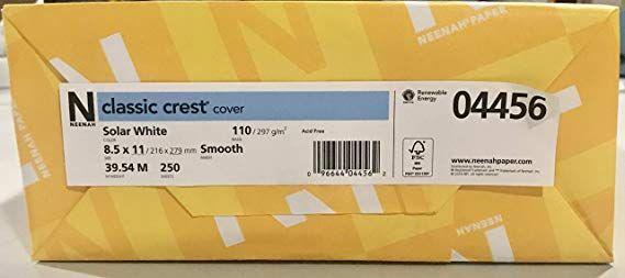 Amazonsmile Neenah Paper 4456 Neenah 110lb Classic Crest