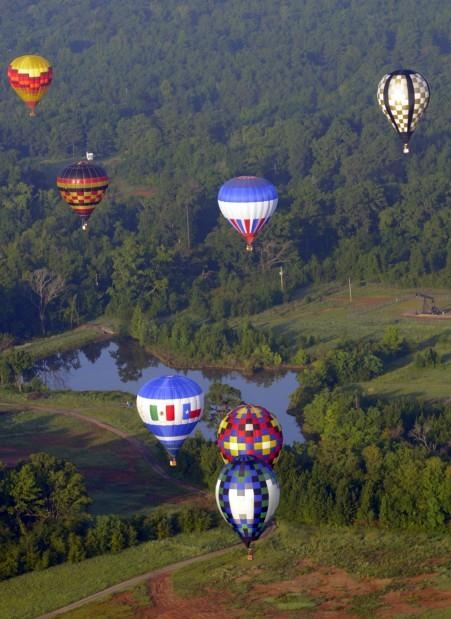 Look at all those treeeeees! Great East Texas Balloon Race - Longview, TX - Been there, seen that