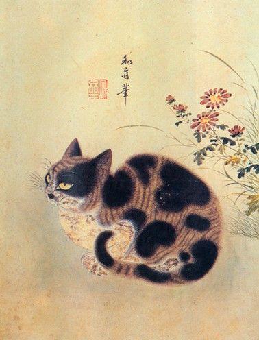 Korean Folk Art Cat