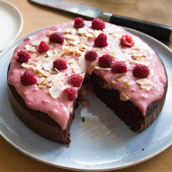 Chocolate, beetroot and orange cake (gluten and dairy-free) by Nadia Lim   NadiaLim.com