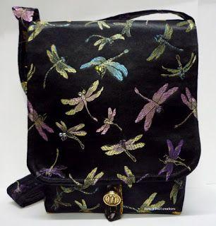 BaRb'n'ShEll Creations-Oriental brocade Dragonfly satchel - BaRb