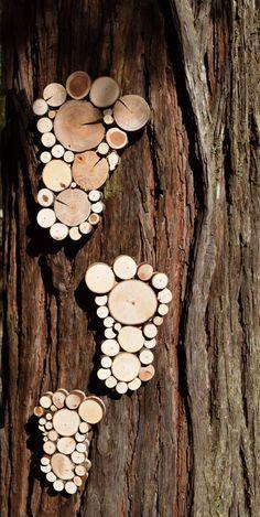Footprint bare feet Sculpture Garden Art by WildSliceDesigns