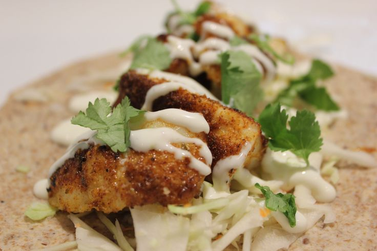 Blackened Fish Tacos (Baked:)