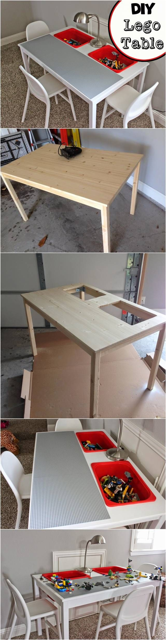 Transform An IKEA Table Into A LEGO Table! Kids will love it! #furniture #IKEA #hack