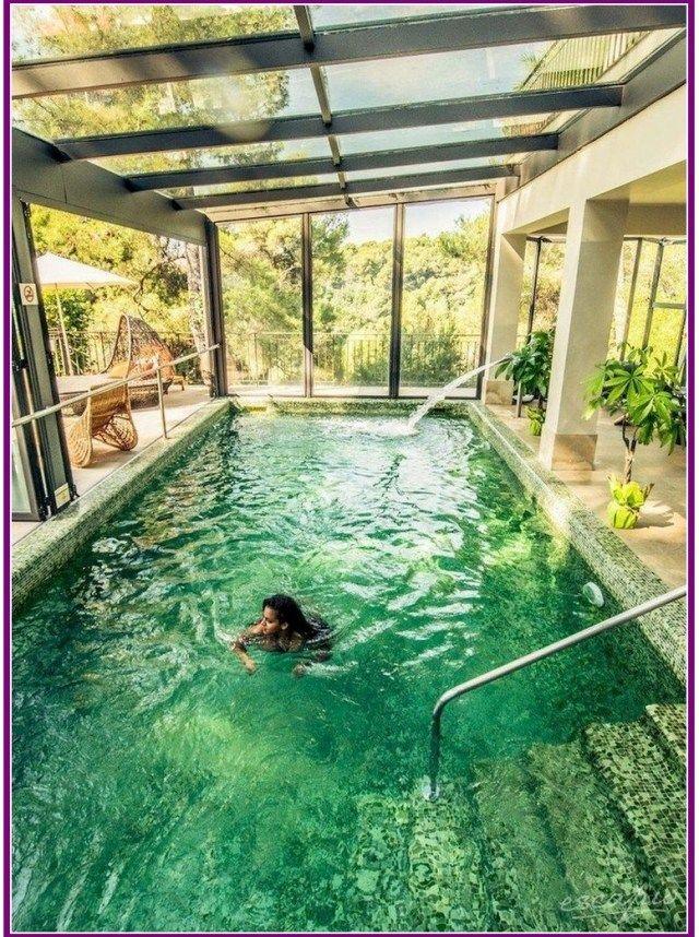 27 Beautiful Swimming Pool Garden Design Ideas Aoneperfume Indoor Swimming Pool Design Indoor Swimming Pools Cool Pools