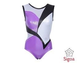 Colore: viola, nero e bianco Tessuto: plasmato, alba glace, rete e preciosa AB crystal