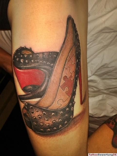 High Heel Tattoo Pictures to Pin on Pinterest