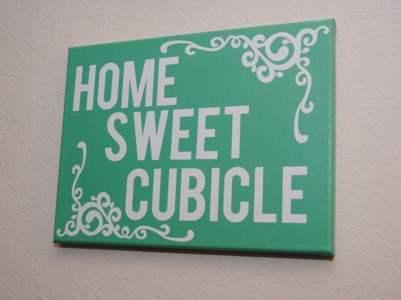 Home Sweet Cubicle Custom Canvas Wall Art For Your Office