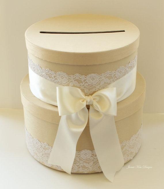 Wedding Gift Box Holder : gift gift card holders box gift burlap boxes wedding 3 white wedding ...