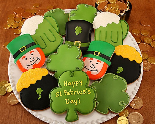 St. Patrick's Day Cookies at Wine Country Gift Baskets