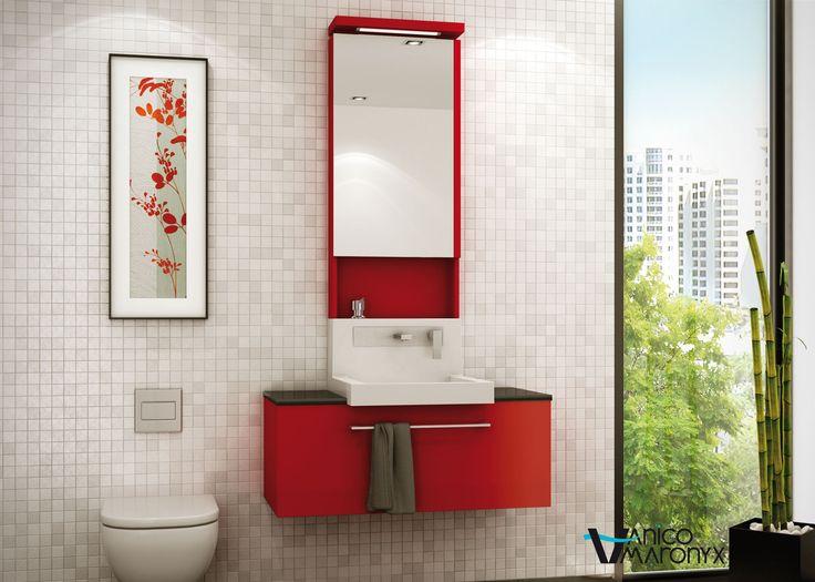 Mobilier de salle de bain WALL de la SÉRIE MIX - VANICO MARONYX. Disponible chez Montréal - Les - Bains