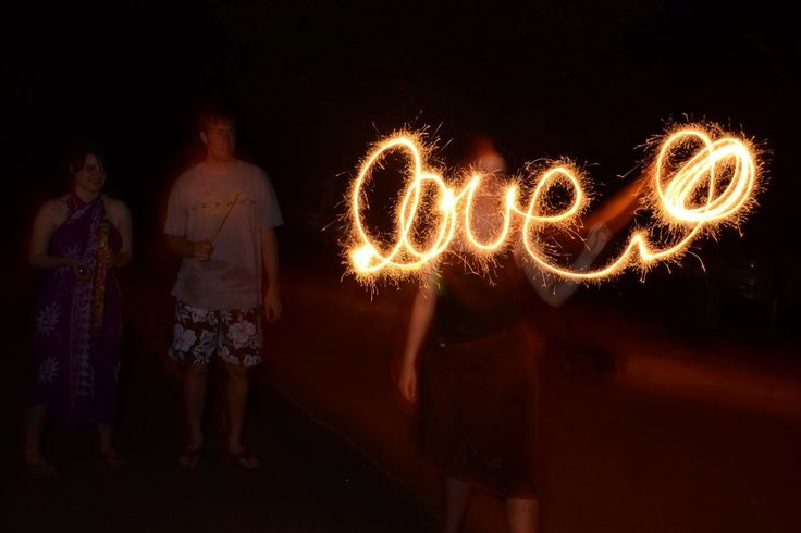 How to photograph sparklers at night!